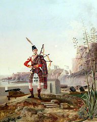 Click image for larger version.  Name:72nd (c1847) Duke of Albany's Own Highlanders (Pipe Cpl) in Gibraltar by F. D. Breciano 1847.jpg Views:16 Size:142.0 KB ID:39004