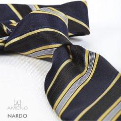 Click image for larger version.  Name:nardo-striber-stribet-navy-sort-gul-hvid-slips-silke-tilbehoer-hals-fra-ameno-black-yellow-white.jpg Views:2 Size:18.0 KB ID:30645